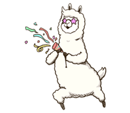 Dancing Alpaca sticker #8383894