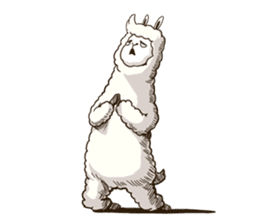 Dancing Alpaca sticker #8383895