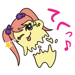 KAKUSEN-kun torn off sticker
