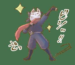 Ninja wearing a Mask of fox sticker #8394750