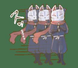 Ninja wearing a Mask of fox sticker #8394760