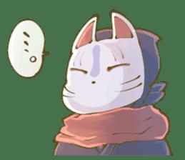 Ninja wearing a Mask of fox sticker #8394778