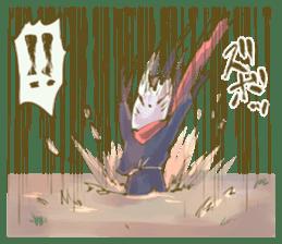 Ninja wearing a Mask of fox sticker #8394779