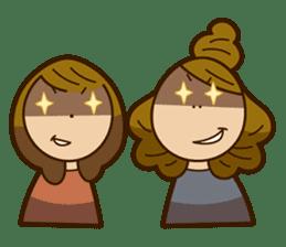 Stickers of UNABARA Yasuyo&Tomoko sticker #8401046
