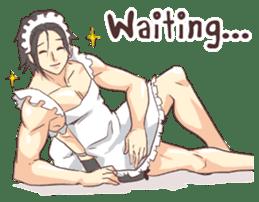 Man Maid (not a butler) Eng. sticker #8405257
