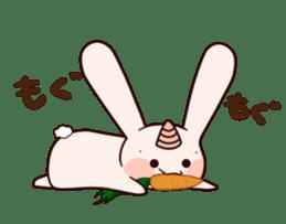 Little Unicorn Bunny 3 sticker #8408870