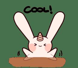 Little Unicorn Bunny 3 sticker #8408871