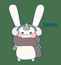 Little Unicorn Bunny 3 sticker #8408875