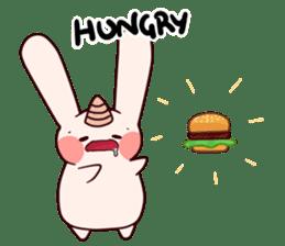 Little Unicorn Bunny 3 sticker #8408880