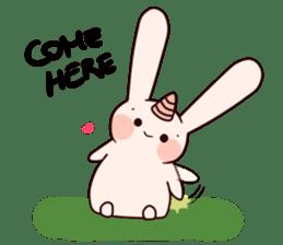 Little Unicorn Bunny 3 sticker #8408888