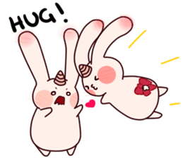 Little Unicorn Bunny 3 sticker #8408889