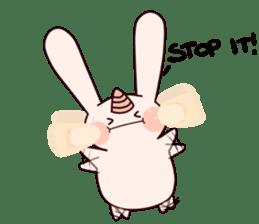 Little Unicorn Bunny 3 sticker #8408890