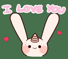 Little Unicorn Bunny 3 sticker #8408897