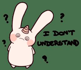 Little Unicorn Bunny 3 sticker #8408905
