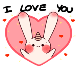 Little Unicorn Bunny 3 sticker #8408906