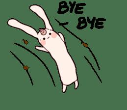 Little Unicorn Bunny 3 sticker #8408907