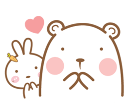 Bear & Rabbit Lover (EN) sticker #8412668