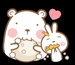 Bear & Rabbit Lover (EN) sticker #8412670