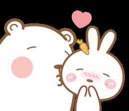 Bear & Rabbit Lover (EN) sticker #8412676
