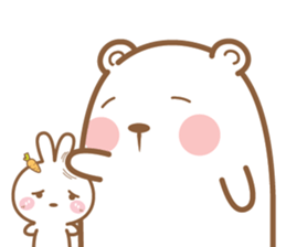 Bear & Rabbit Lover (EN) sticker #8412677