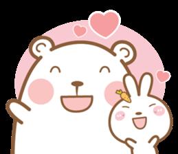 Bear & Rabbit Lover (EN) sticker #8412683