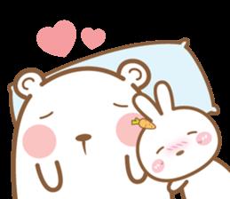 Bear & Rabbit Lover (EN) sticker #8412687