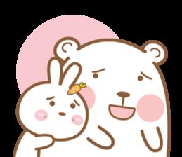 Bear & Rabbit Lover (EN) sticker #8412697