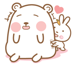 Bear & Rabbit Lover 2 (EN) sticker #8416306