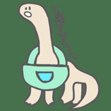 long neck dinosaur sticker #8419501
