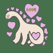 long neck dinosaur sticker #8419503