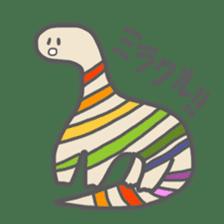 long neck dinosaur sticker #8419510