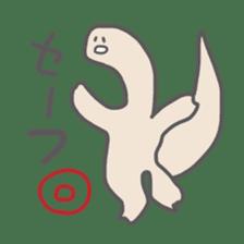 long neck dinosaur sticker #8419511