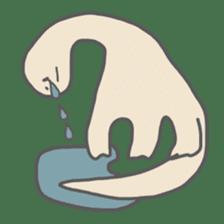 long neck dinosaur sticker #8419520