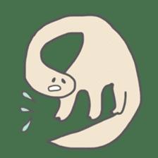 long neck dinosaur sticker #8419522