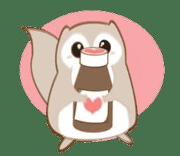 Cute Flying squirrel hari sticker #8422278