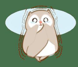 Cute Flying squirrel hari sticker #8422281