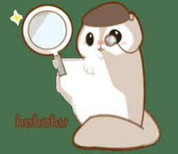 Cute Flying squirrel hari sticker #8422291