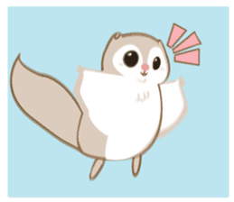 Cute Flying squirrel hari sticker #8422296