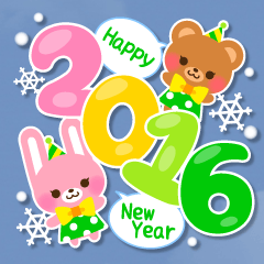 New Year Sticker 2016