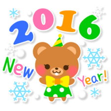 New Year Sticker 2016 sticker #8428140