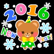 New Year Sticker 2016 sticker #8428140