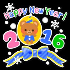 New Year Sticker 2016 sticker #8428141
