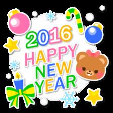 New Year Sticker 2016 sticker #8428142