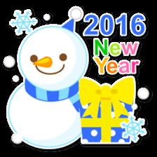 New Year Sticker 2016 sticker #8428144