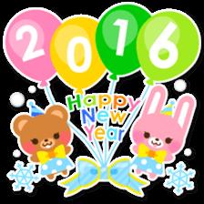 New Year Sticker 2016 sticker #8428145