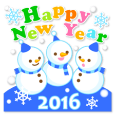 New Year Sticker 2016 sticker #8428146