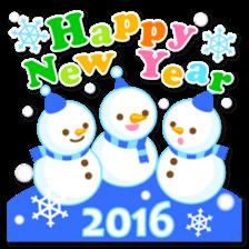 New Year Sticker 2016 sticker #8428146