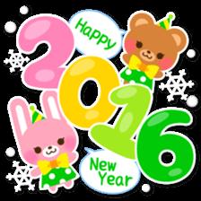 New Year Sticker 2016 sticker #8428147