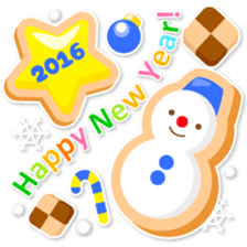 New Year Sticker 2016 sticker #8428149