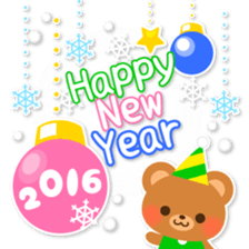 New Year Sticker 2016 sticker #8428152
